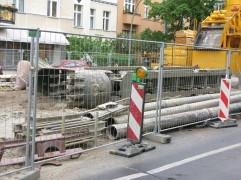Klo som används vid grävning av slits.
